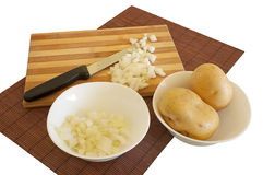 Preparando ingredientes da refeição Fotos de Stock
