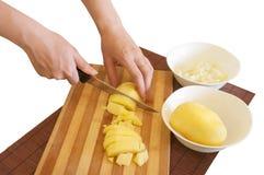 Preparando ingredientes da refeição Imagens de Stock
