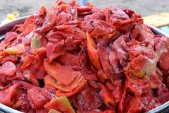 Preparando le verdure per chutney agosto 2016 Immagini Stock