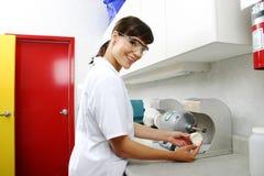 Preparando moldes dentais Foto de Stock