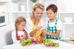 Preparando o alimento saudável Foto de Stock Royalty Free
