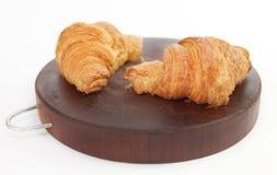 Preparando o café da manhã do croissant Fotos de Stock Royalty Free