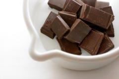 Preparando o chocolate quente mim fotografia de stock royalty free
