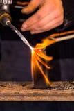 Preparando o metal Foto de Stock
