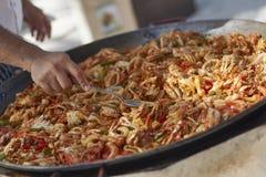 Preparando o paella do La foto de stock royalty free