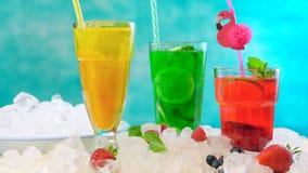 Preparando o Spritzer do verão bebe com fruto fresco com água mineral com gás fotos de stock