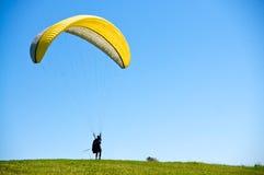 Preparando a Paraglide Immagine Stock Libera da Diritti