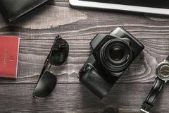 Preparando per il concetto di viaggio di affari Fotografia Stock