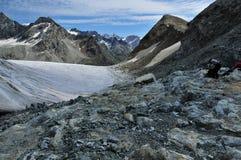 Preparando per il ghiacciaio Fotografia Stock