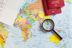 Preparando per il viaggio, viaggio, vacanza di viaggio, turismo Fotografia Stock