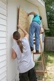 Preparando per l'uragano Fotografie Stock Libere da Diritti