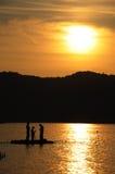 Preparando per la pesca Fotografia Stock Libera da Diritti