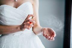 Preparando-se o noivo da noiva imagem de stock