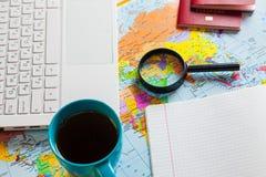 Preparando-se para o curso, curso, férias da viagem, turismo Fotografia de Stock