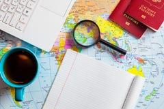 Preparando-se para o curso, curso, férias da viagem, turismo Fotografia de Stock Royalty Free