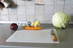 Preparando a sopa Foto de Stock