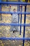 Preparandosi nel parco di allenamento della via Fotografia Stock Libera da Diritti