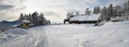 Preparar-se para a ação da neve dos dias Imagens de Stock
