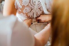 Prepararsi nozze della sposa Fotografia Stock