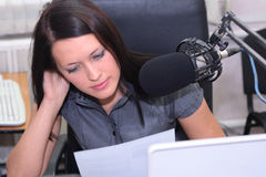 Preparation for announcing news stock photography