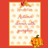 Preparation of the autumn menu, card for cafes Royalty Free Stock Photos