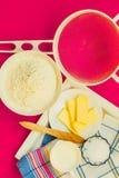 Preparation for baking, bake ingredients. Royalty Free Stock Photo