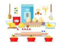 Preparation of baking ingredients Stock Photography