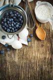 Preparation for baking a pie with blueberries Royalty Free Stock Image