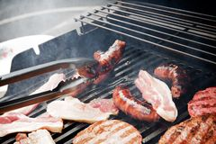Barbecue close up Royalty Free Stock Photo
