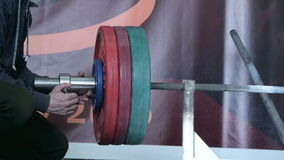 Preparation barbell for powerlifting