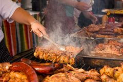 Preparation BBQ Royalty Free Stock Photography