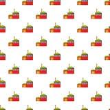 Preparation of beer pattern, cartoon style. Preparation of beer pattern. Cartoon illustration of preparation of beer vector pattern for web Royalty Free Stock Image