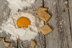 the preparation of the biscuits , the ingredients stock image