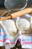 Preparation of bread at home. Stock Photos