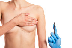 Preparation for breast surgery Royalty Free Stock Photos