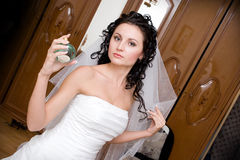 Preparation of the bride Stock Photos
