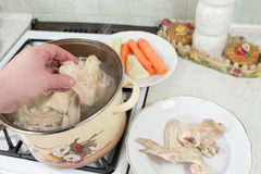 Preparation of broth. Stock Photos