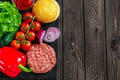 Preparation of burger Royalty Free Stock Image
