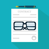Preparation business contract icon. Stock vector Royalty Free Stock Image
