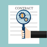 Preparation business contract. Vector illustration Royalty Free Stock Photography