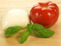 Preparation of caprese salad Stock Photo