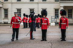 Preparation for Changing the Guard ceremony in London Royalty Free Stock Photography