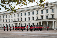 Preparation for Changing the Guard ceremony in London Stock Image