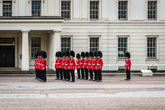 Preparation for Changing the Guard ceremony in London Royalty Free Stock Images