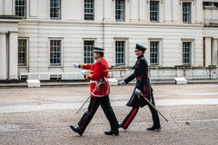 Preparation for Changing the Guard ceremony in London Royalty Free Stock Photos