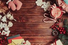 Christmas table frame Royalty Free Stock Photo