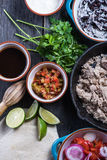 Preparation of classic street food burritos Stock Photography