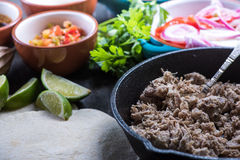Preparation of classic street food burritos Royalty Free Stock Photography