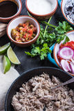 Preparation of classic street food burritos Royalty Free Stock Images