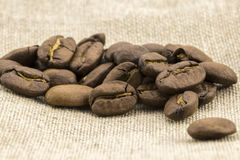 Preparation for a coffee menu is made from coffee beans Stock Photography